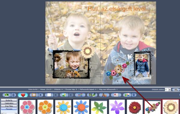 Clip-art galéria a fotókönyv oldalak díszítéséhez